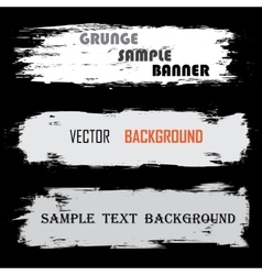 Grunge white banners with text vector image