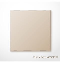 Cardboard empty pizza box mock up package vector