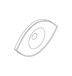 Eye icon in isometric 3d style vector image