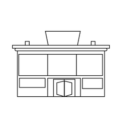 Supermarket building icon outline style vector