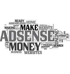 adsenselover make money at home with vector image vector image