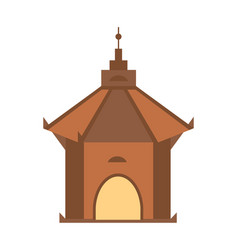 Antique architecture isolated icon vector