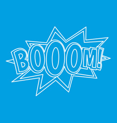Boom comic book explosion icon outline style vector