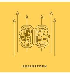 Brainstorm Design Flat Concept vector image