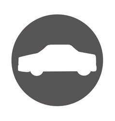 Car sedan silhouette icon vector