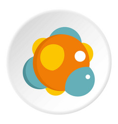 Chemical laboratory transparent flask icon circle vector