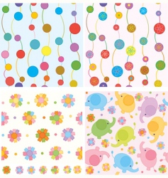 cute backgrounds vector image vector image