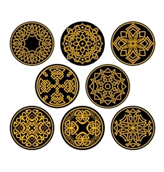 Decorative round intricate patterns vector image vector image