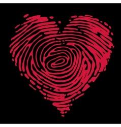 Fingerprint heart vector image vector image