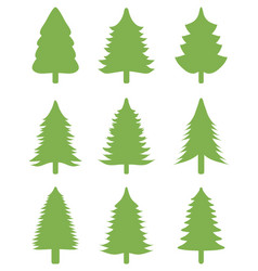 green christmas trees vector image vector image