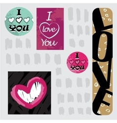 Greeting card i love you happy valentine day vector
