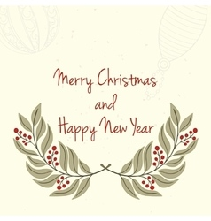 Hand drawn christmas and new year invitation card vector