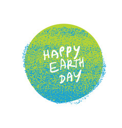 Happy earth day grunge earth planet symbol grunge vector