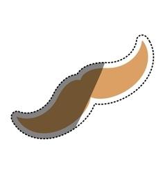 Hipster gentleman mustache vector image vector image