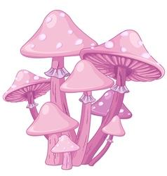 Magic toadstools vector