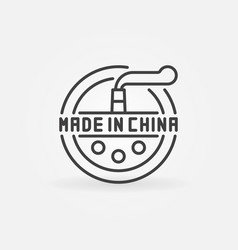 minimal made in china icon vector image vector image