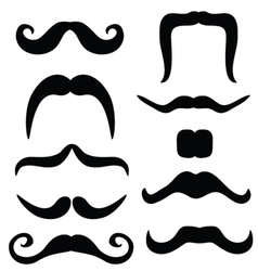 Mustache set black vector