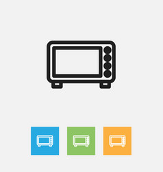 Of meal symbol on oven outline vector
