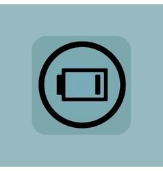 Pale blue low energy sign vector
