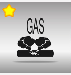 Pipe damage gas black icon button logo symbol vector