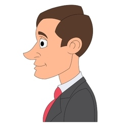 Profile of a businessman 2 vector image vector image