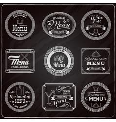 Retro Menu Labels Chalkboard vector image vector image
