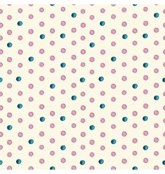 Seamless watercolor drops pattern vector image vector image