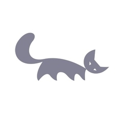 Silhouette of cat vector