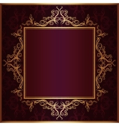 square frame with sketch pattern vector image