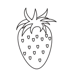 Strawberry healthy fruit nature outline vector