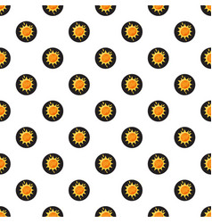 Sun in space pattern vector