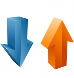 vecor arrows vector image vector image