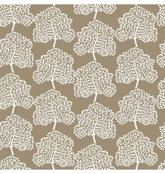 Winter trees seamless pattern vector image vector image