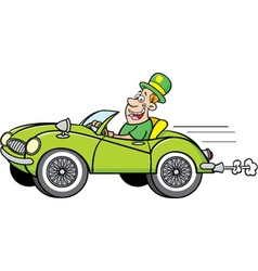 Man Wearing a Derby driving a car vector image