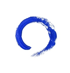 Blue round acrylic brush stroke vector