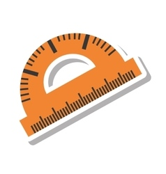 Protractor rule isolated icon vector