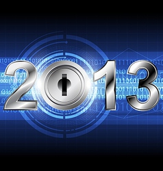 new year 2013 with digital concept background vector image