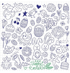 Easter - doodles vector