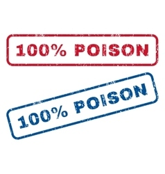 100 percent poison rubber stamps vector