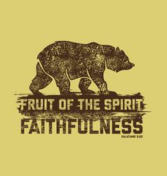 Fruit of the spirit faithfulness vector