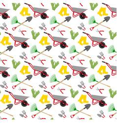 Garden tools pattern vector