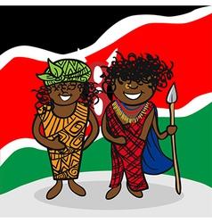Welcome to Kenya people vector image