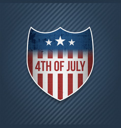 Fourth of july celebration banner vector
