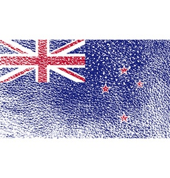 Flag of new zeland with old texture vector