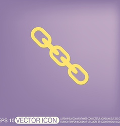 Links chain icon vector