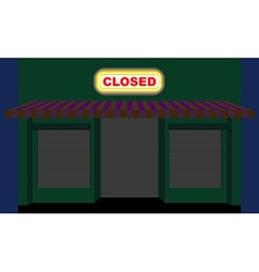 Convenience store shop at night plate is closed vector