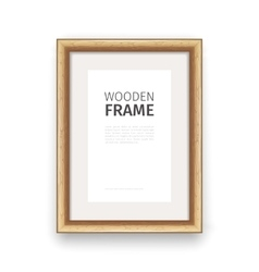 Wooden rectangle frame maple vector