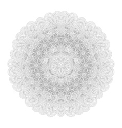 Monochrome mandala for your design vector