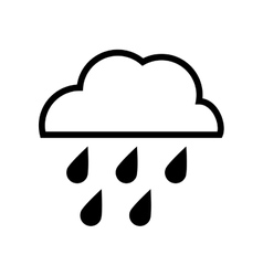 Cloud and rain design isolated weather icon vector