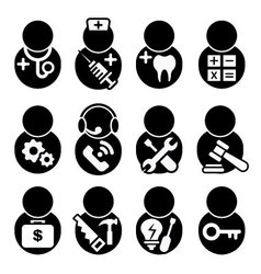 Occupations icon vector